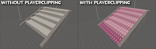 Stairs with and without playerclipping